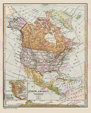 MAP CANADA PUBLICATIONS NORTH AMERICA LARGE ART PRINT LF885