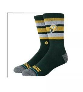 Stance NFL  Backfield Green Bay Packers Socks Large 9-13.