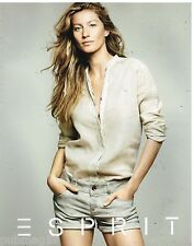 Publicité Advertising 2012 Pret à porter vetements Esprit avec Gisele Bundchen