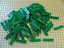 Lego ~ Bulk Lot Of 100 Green Smooth 1x4 Finishing Tiles Flat Roof/Floor Plate #x