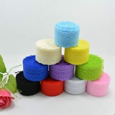 Wholesale! 10 Yards Embroidered Net Lace Trim Ribbon 4.5 cm Multi Colour Choice