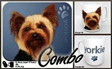 "Yorkshire Terrier (Yorkie) ""for Dog Lovers Only"" Mouse Pad and Mug Combo Set (bl"