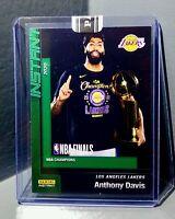 Anthony Davis 2020 Panini LA Lakers NBA Champions #8 Green Parallel Card 10/10