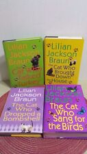 "Lot of 4 Lillian Jackson Braun Mysteries ""Cat Who"" Series Hardcover"