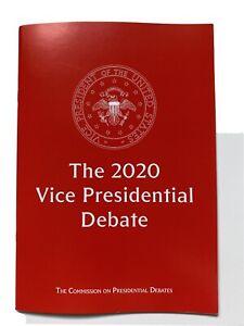 2020 Vice Presidential Debate Program Vice President Mike Pence vs Kamala Harris