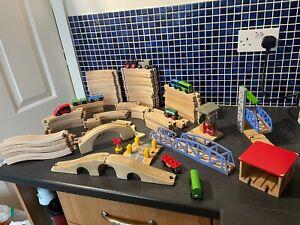 Large Wooden Train Track Bundle Job Lot - Brio ELC IKEA 8