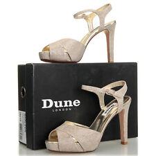 Dune London Marleen Crossover Strap Gold Heel Sandal - Size 7 M (38 EU)