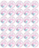 Christening Day Pink x 30 Cupcake Toppers Edible Wafer Paper Fairy Cake Toppers