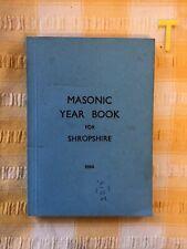 More details for masonic yearbook for shropshire, 1984 , freemasonry