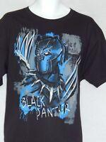 NEW Black Panther Figure Marvel Comics Mask T Shirt Avengers Cartoon Men's XL