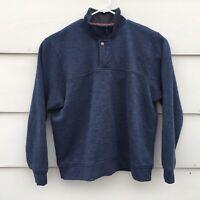 Orvis Mens Snap Fleece Pullover Dark Blue XL Sweater Sweatshirt