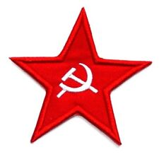 Red Star Patch Hammer Sickle Embroidered Iron Sew On USSR Russia Soviet Union
