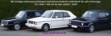 VW Golf 1 Cabrio Verdeck PVC weiß incl. Anleitung aus dem Cabriozentrum