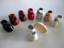 CHAUSSURES en CUIR pour/de POUPEE ANCIENNE BLEUETTE ou autre - DOLL SHOES 4cm