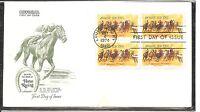 US SC # 1528 Horse Racing FDC. BLK4, Artmaster Cachet.