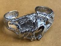 Western Armreif Cowboy Indianer Pferd echt Sterling Silber 925 massiv Armband