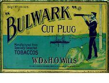 "TIN SIGN ""Bulwark Cut Plug"" Nicotine Deco Garage Wall Decor"