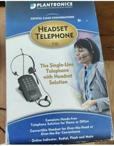 Plantronics T10 Single-Line Telephone with Headset