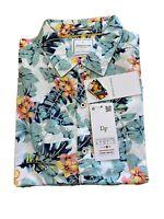 Denim And Flower Men's Slim Fit Button Down Short Sleeve Cotton Shirt. S-XL NWT