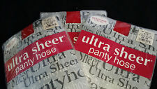 3 ultra sheer panty hose pantyhose stocking RED. great for Halloween costume