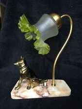 Art Deco lamp with Alsatian dog