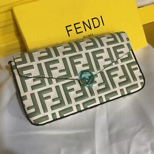 FENDI wallet Letters pattern coin Purse Clutch