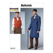 Coat Vest Sewing Pattern 38-44 Mens Butterick 6502 History