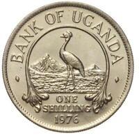 Bank of Uganda - Münze - 1 One Shilling 1976 - Stempelglanz UNC