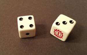 2003 LORD OF THE RINGS MONOPOLY Edition DICE REPLACEMENT PARTS 2 Die D6 Six Side