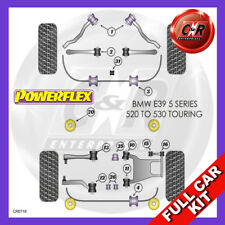 BMW E39 520-530 Est 96-04 Rr Subframe Bushes, Not MSport Susp Powerflex Full Kit