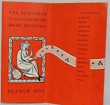 More details for the european association of music festivals season 1954 programme