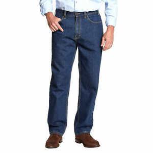 Kirkland Signature Mens Relaxed Fit Cotton Blue Heavy-Duty Jeans Pants Pick Size
