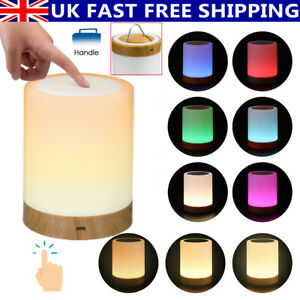Dimmable LED Touch Night Light Bedside Table Mood Light USB Rechargeable Lamp