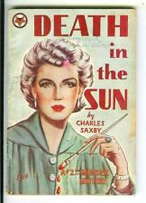 DEATH IN THE SUN by Saxby, rare US Green #10 crime noir gga digest vintage pb
