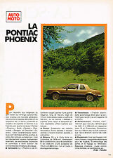 PUBLICITE ADVERTISING 064  1979  PONTIAC  PHOENIX