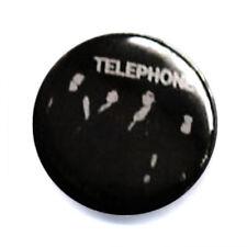 Badge TELEPHONE groupe rock français culte années 80 pop punk retro pins Ø25mm .