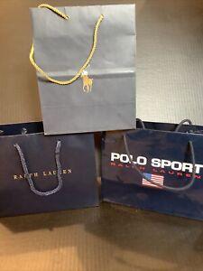 Ralph Lauren Shopping Gift Paper Bags set of 3