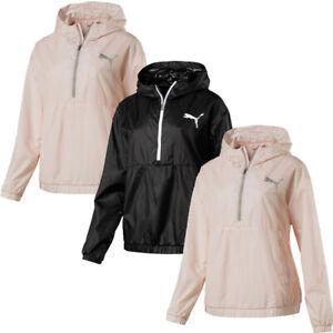 Puma Womens 3/4 ZIP Hoodie Hoody Jacket Running Tracksuit Top Hoodies Black Size