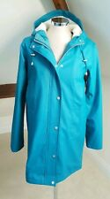 ASOS Tall Borg Lined Rain Coat Teal UK 8 ( oversized - fit 12 )