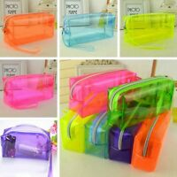 Transparent Various Zipper Stationery Pencil Case Cosmetic Bag Pouch Storage