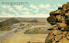 1907-1915 Postcard Dale Creek Valley from Skull Rocks WY Wyoming Albany Co. Used