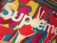 Supreme SS16 Abstract Beach Towel Red Box Logo Mendini Multi Color Camo Yankees