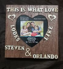 New Personalized Family Names Sign Custom Wood Frame Couple Wedding Gift S1