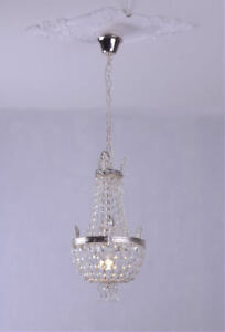 Chandelier crystal Empire Vintage candelabrum lustre Marie Therese Ceiling Light
