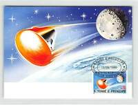 S.TOME MK WELTRAUM MONDLANDUNG SPACE MOONLANDING CARTE MAXIMUM CARD MC CM m229