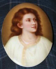 Oval Hutschenreuther Porcelain  Royal Austrian Plaque of Young Woman 1800s