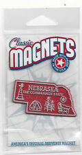 """NEBRASKA   """" THE CORN HUSKER STATE""""   NE OUTLINE MAP MAGNET in Souvenir Bag, NEW"""