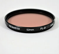 PROMASTER 52MM FL-D CAMERA FILTER, FOR DIGITAL, FILM, USED EXCELLENT CONDITION