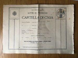 DOCUMENTO CARTELLA DI CASA CITTA' DI FOSSANO CUNEO 1939 TIP. G. EGUZZONE