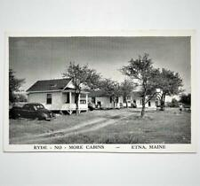 Vintage Postcard View of Ryde No More Cabins Etna Maine Sagamore Lodge Rangeley